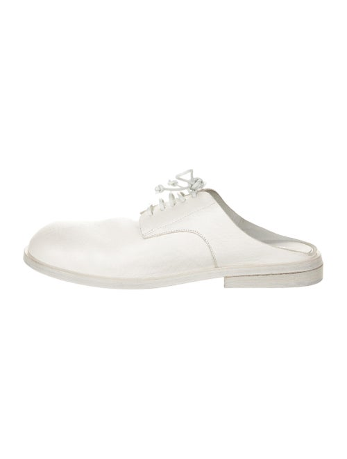 Marsèll Leather Mules White