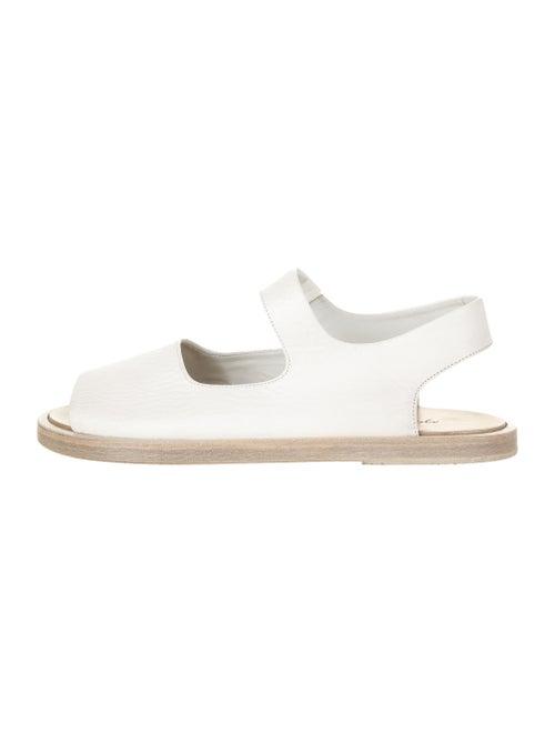 Marsèll Leather Slingback Sandals White