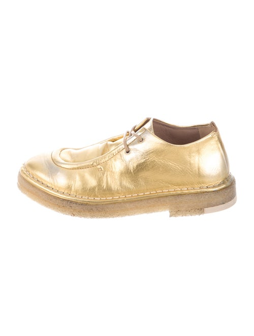 Marsèll Leather Oxfords Gold