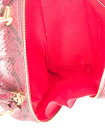 Laura Large Snakeskin Camera Bag
