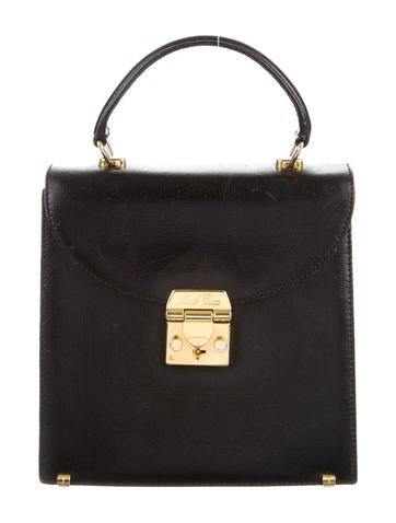 Textured Leather Handle Bag