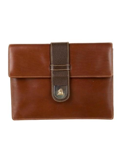Mark Cross Leather Shoulder Bag Brown