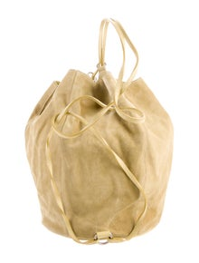 Mark Cross Suede Bucket Bag