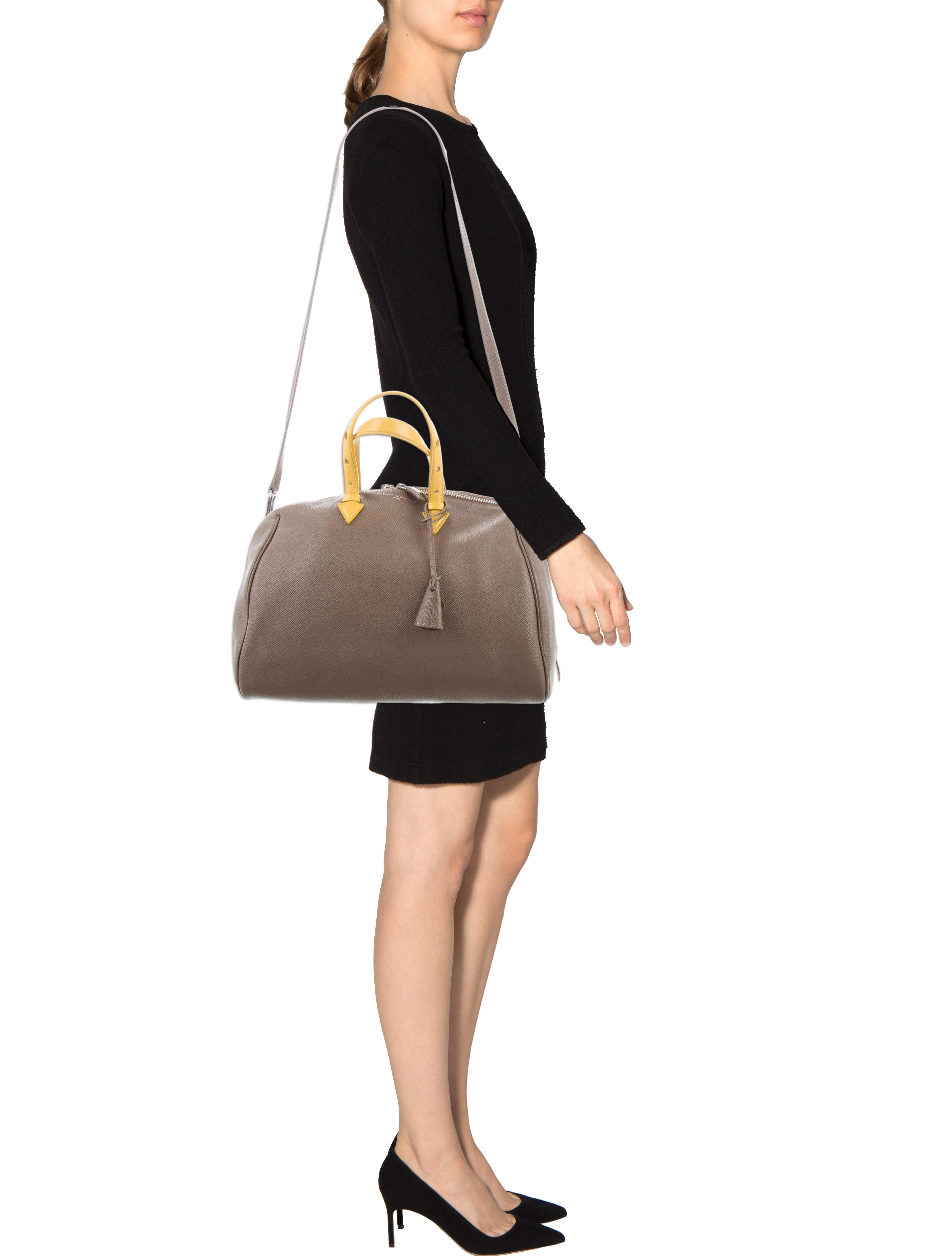 Joyce Leather Bowling Bag