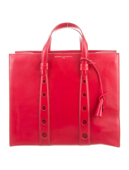Myriam Schaefer Primo Leather Tote Red