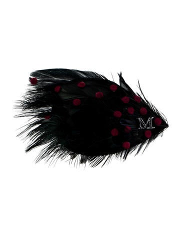 Maison Michel Elisa Feather Pin w/ Tags