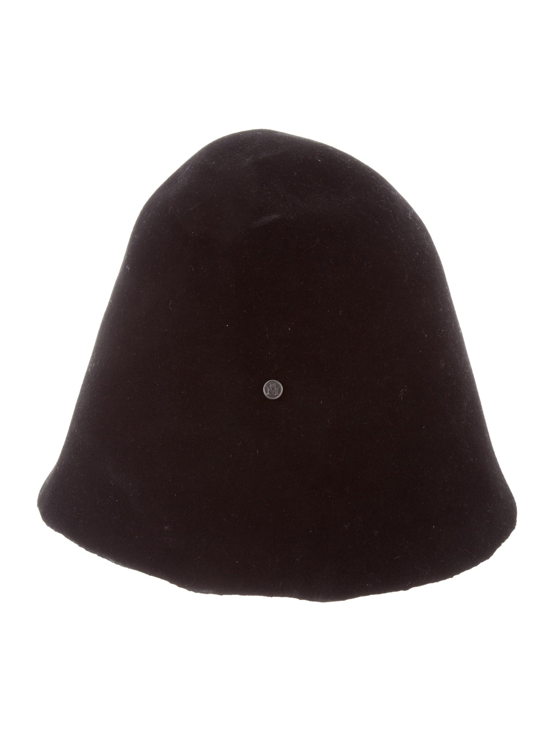 7124f7e81d4 Maison Michel Black Felt Hat - Accessories - MSM20398