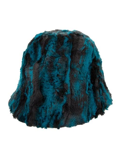 Maison Michel Faux Fur Bucket Hat teal