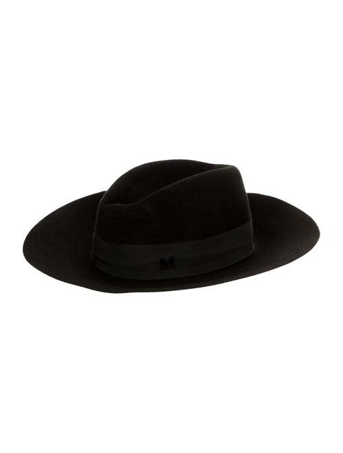 Maison Michel Felt Fedora Hat Black