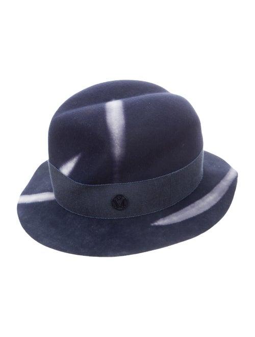 Maison Michel Yoshika Fedora Hat Navy