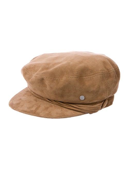 Maison Michel Suede Newsboy Hat