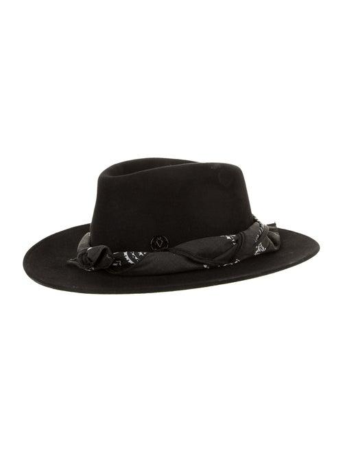 Maison Michel Felt Fedora Hat w/ Tags Black