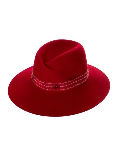 Maison Michel Felt Fedora Hat Red