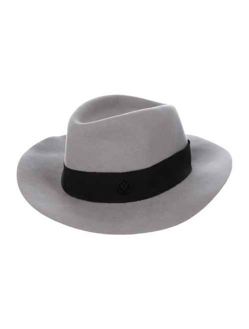 Maison Michel Wide Brim Fedora Hat w/ Tags grey