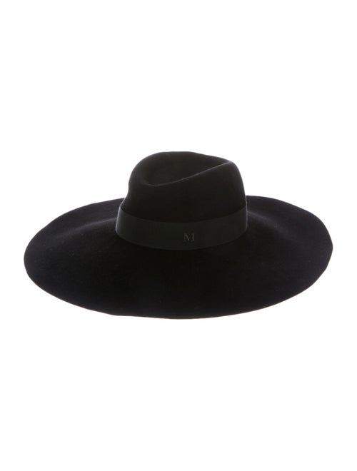 Maison Michel Fedora Hat Black
