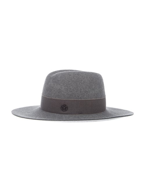 Maison Michel Felt Fedora Hat Grey