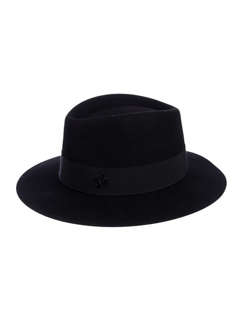 Maison Michel Wide Brim Fedora Hat w/ Tags Black