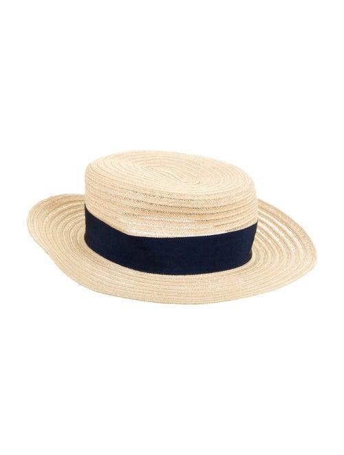 Maison Michel Wide Brim Straw Hat blue - image 1