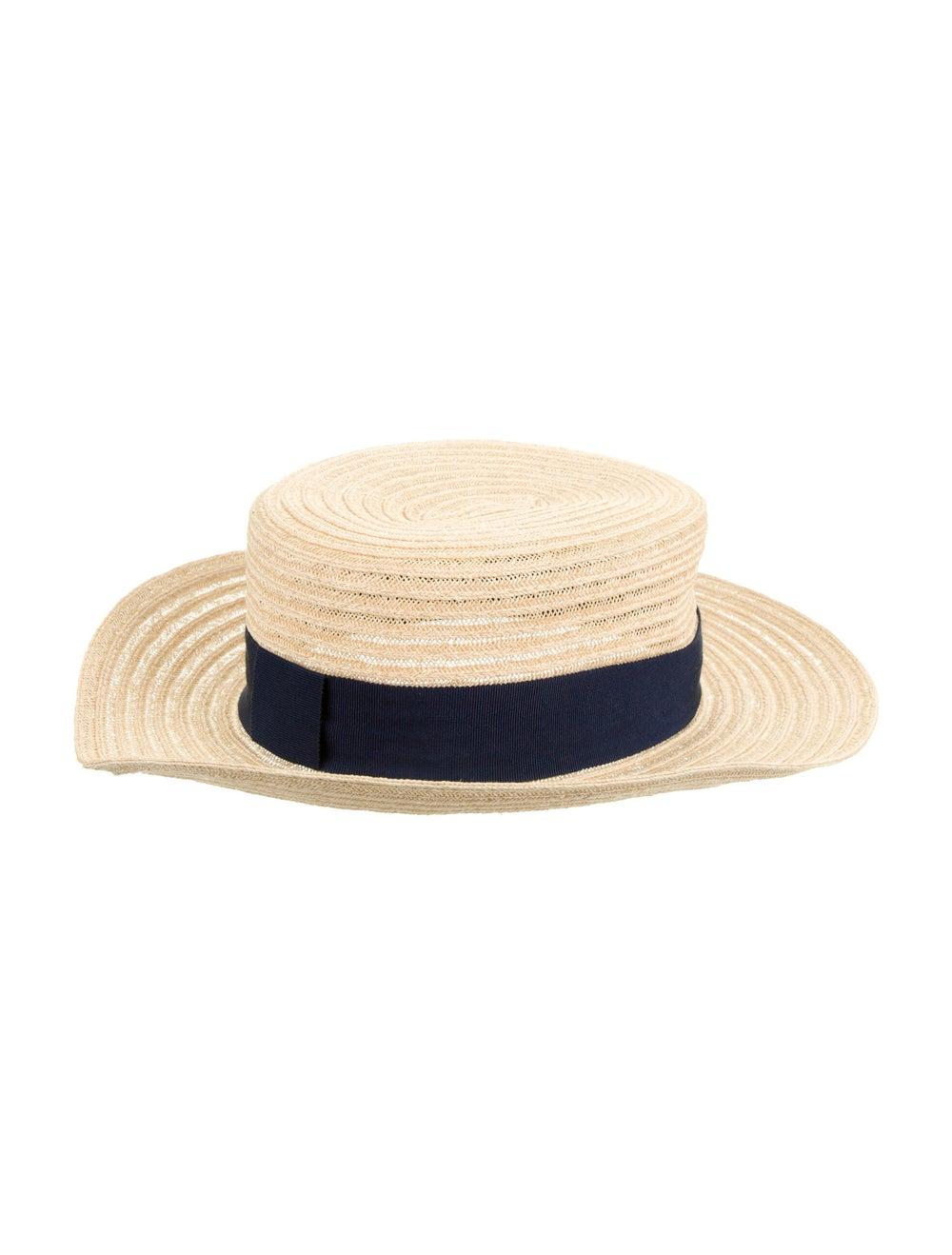 Maison Michel Wide Brim Straw Hat blue - image 2