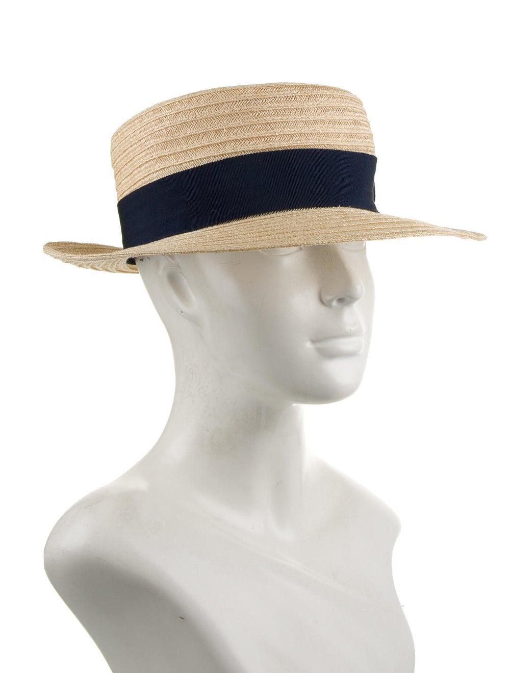 Maison Michel Wide Brim Straw Hat blue - image 3