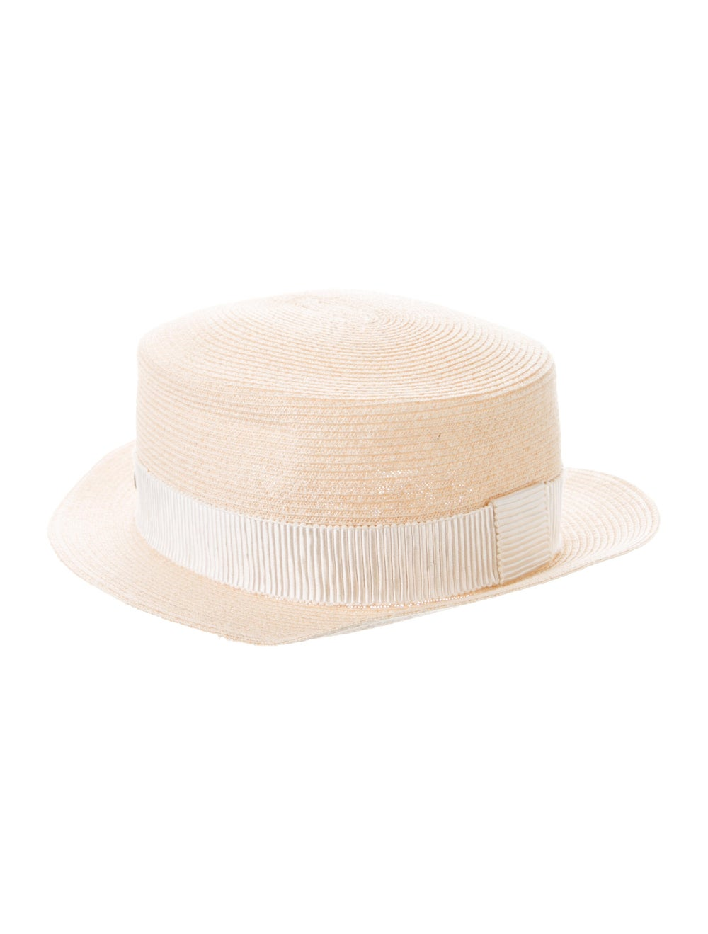 Maison Michel Straw Wide Brim Hat Tan - image 2