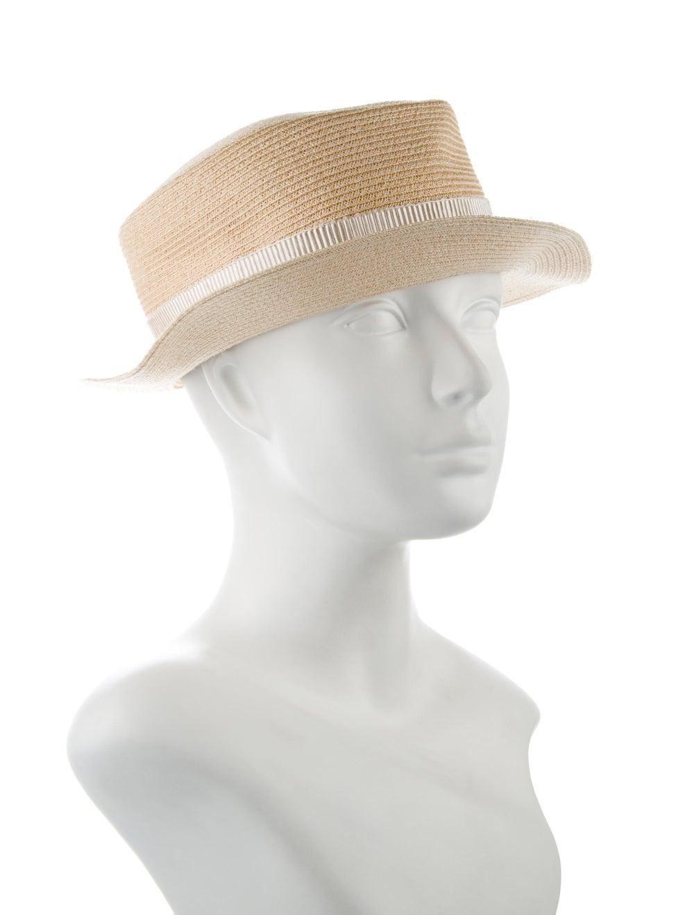 Maison Michel Straw Wide Brim Hat Tan - image 3