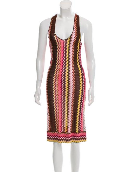 Missoni Mare Chevron Knit Dress Brown
