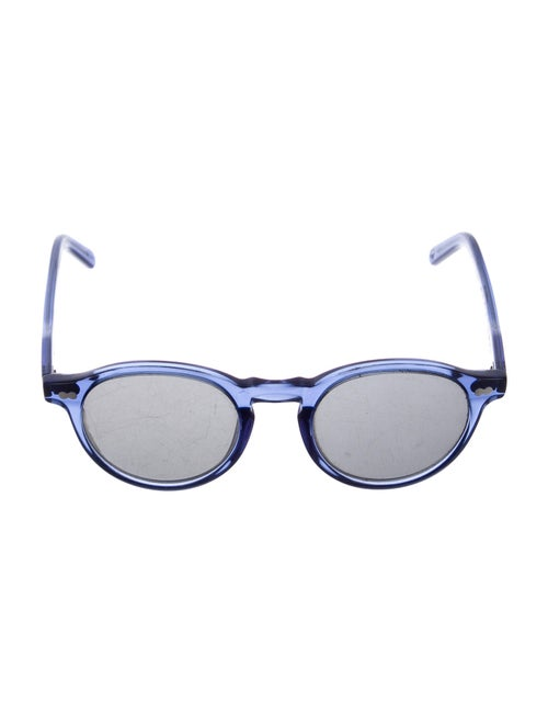 Moscot Round Tinted Sunglasses Blue - image 1