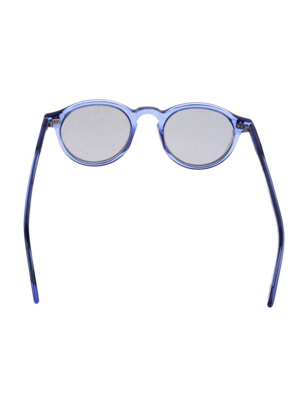 Moscot Round Tinted Sunglasses Blue - image 3