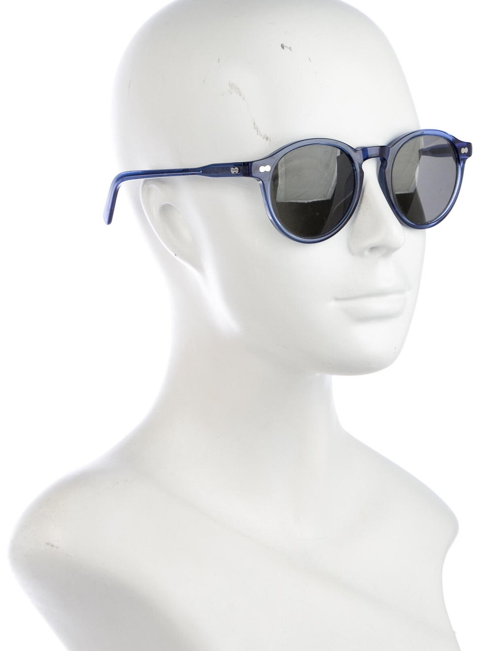 Moscot Round Tinted Sunglasses Blue - image 4
