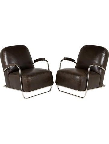 Mitchell Gold + Bob Williams Art Deco Club Chair Set