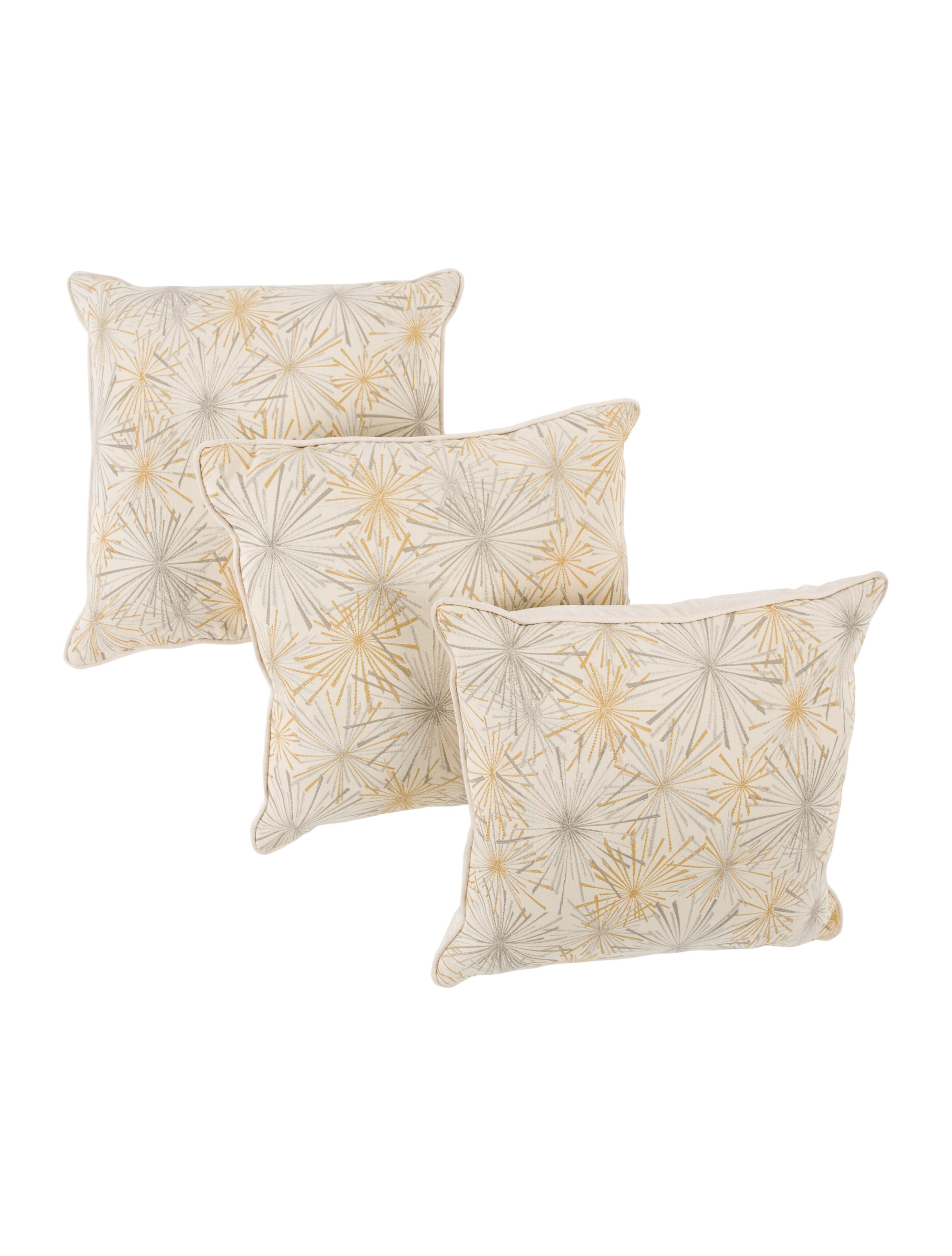 Mitchell Gold + Bob Williams Set of 3 Starburst Throw Pillows - Pillows And Throws - MTCHL20038 ...