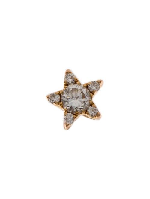 Maria Tash 14K Diamond Star Stud Earring Rose