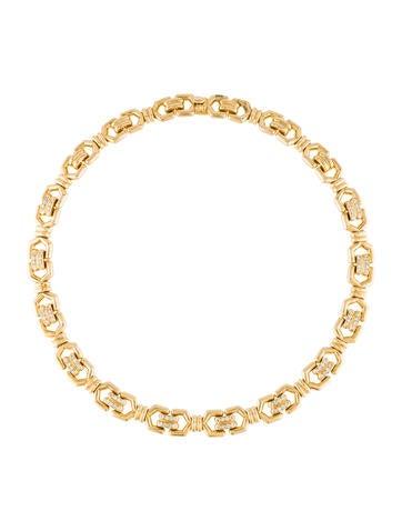 Mauboussin Diamond Link Collar Necklace
