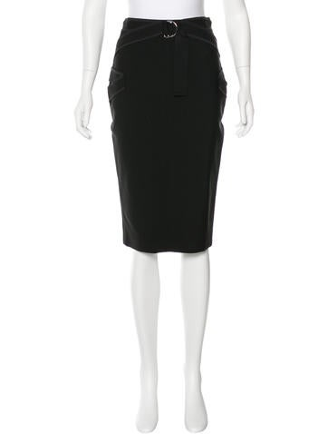 Mugler Buckle Pencil Skirt