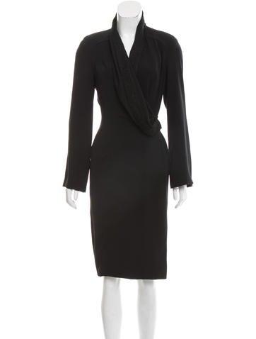 Mugler Structured Midi Dress None