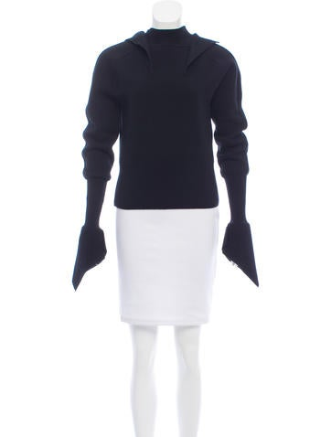 Mugler Wool Knit Sweater None
