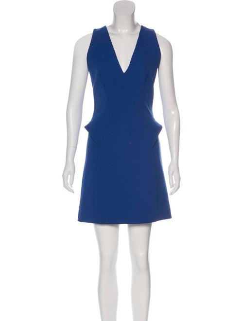 Mugler Sleeveless Mini Dress Blue