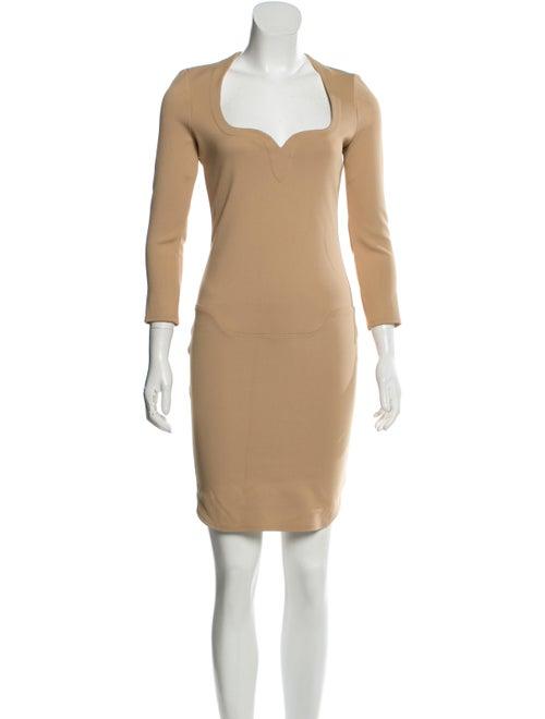 Mugler Long Sleeve Mini Dress