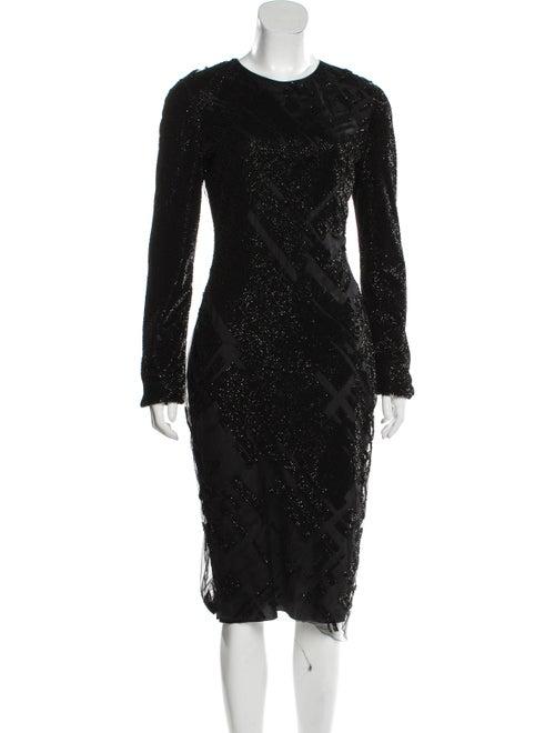 Mugler Embellished Midi Dress Black