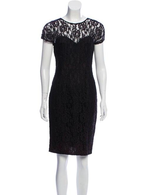 Mugler Lace Mini Dress Black