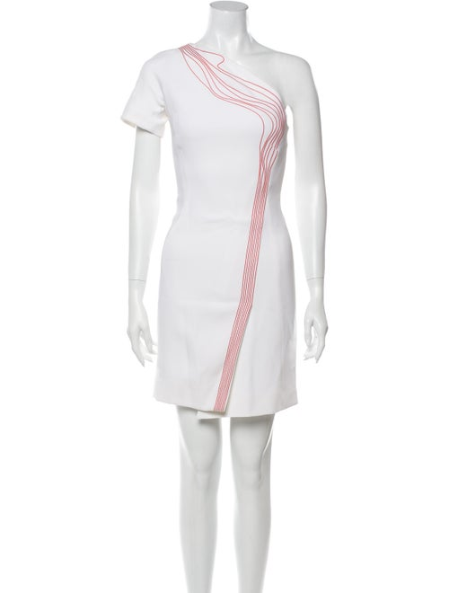 Mugler One-Shoulder Mini Dress