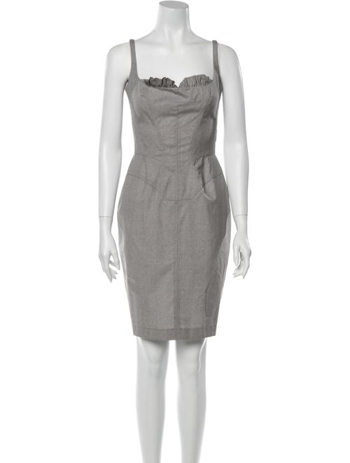 Mugler Wool Mini Dress Wool