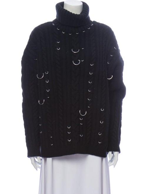 Mugler Wool Turtleneck Sweater Wool