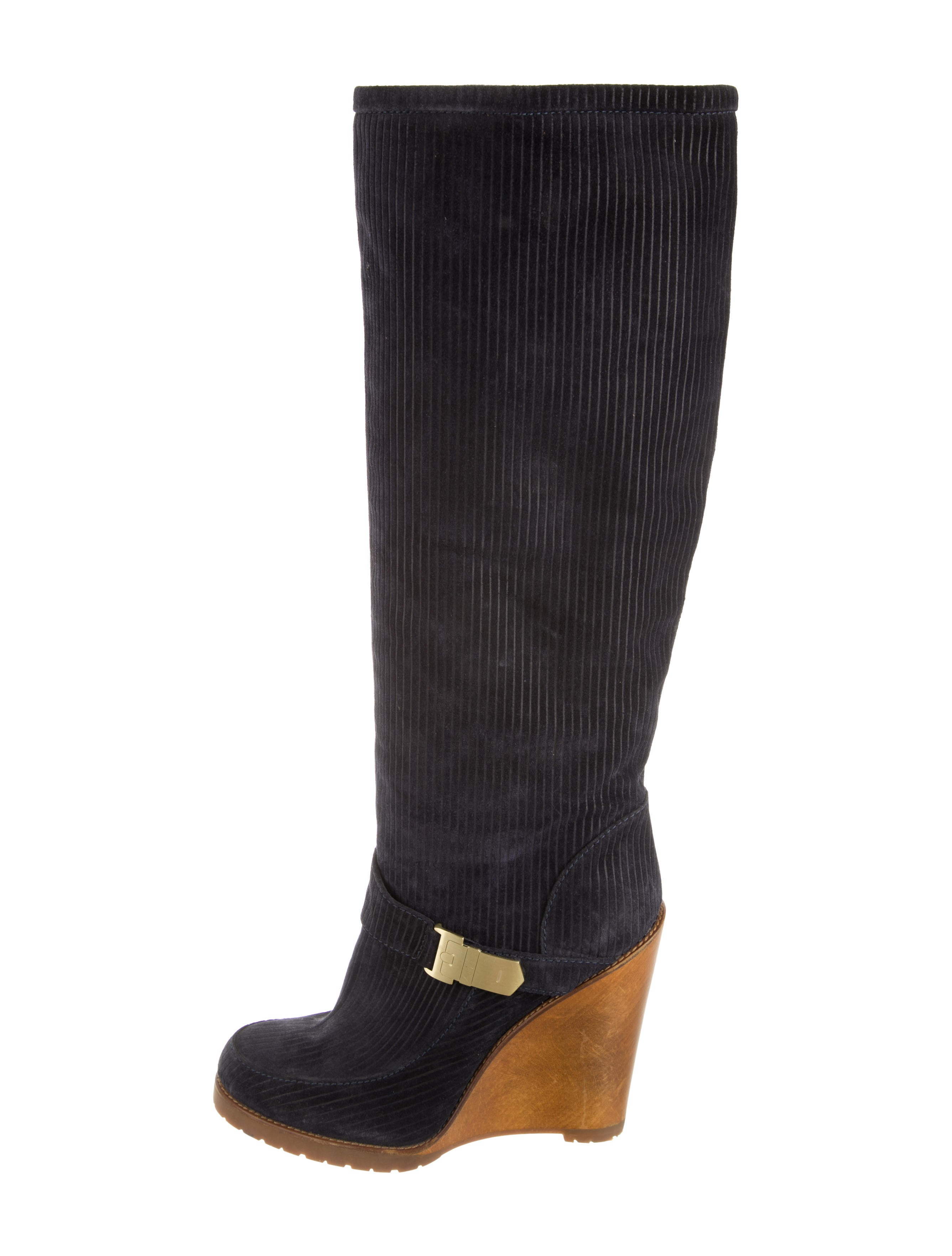mulberry suede wedge boots shoes mul21096 the realreal