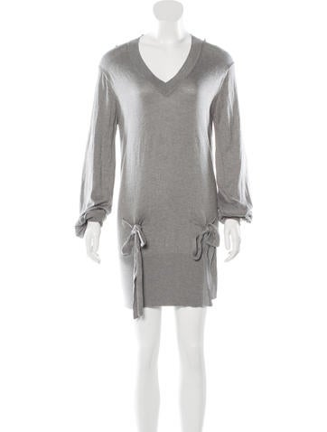 Mulberry Knit Silk Dress None