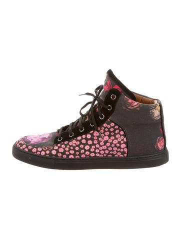 Mulberry Floral High-Top Sneakers None