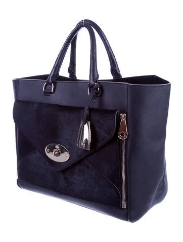 Ponyhair-Accented Willow Tote