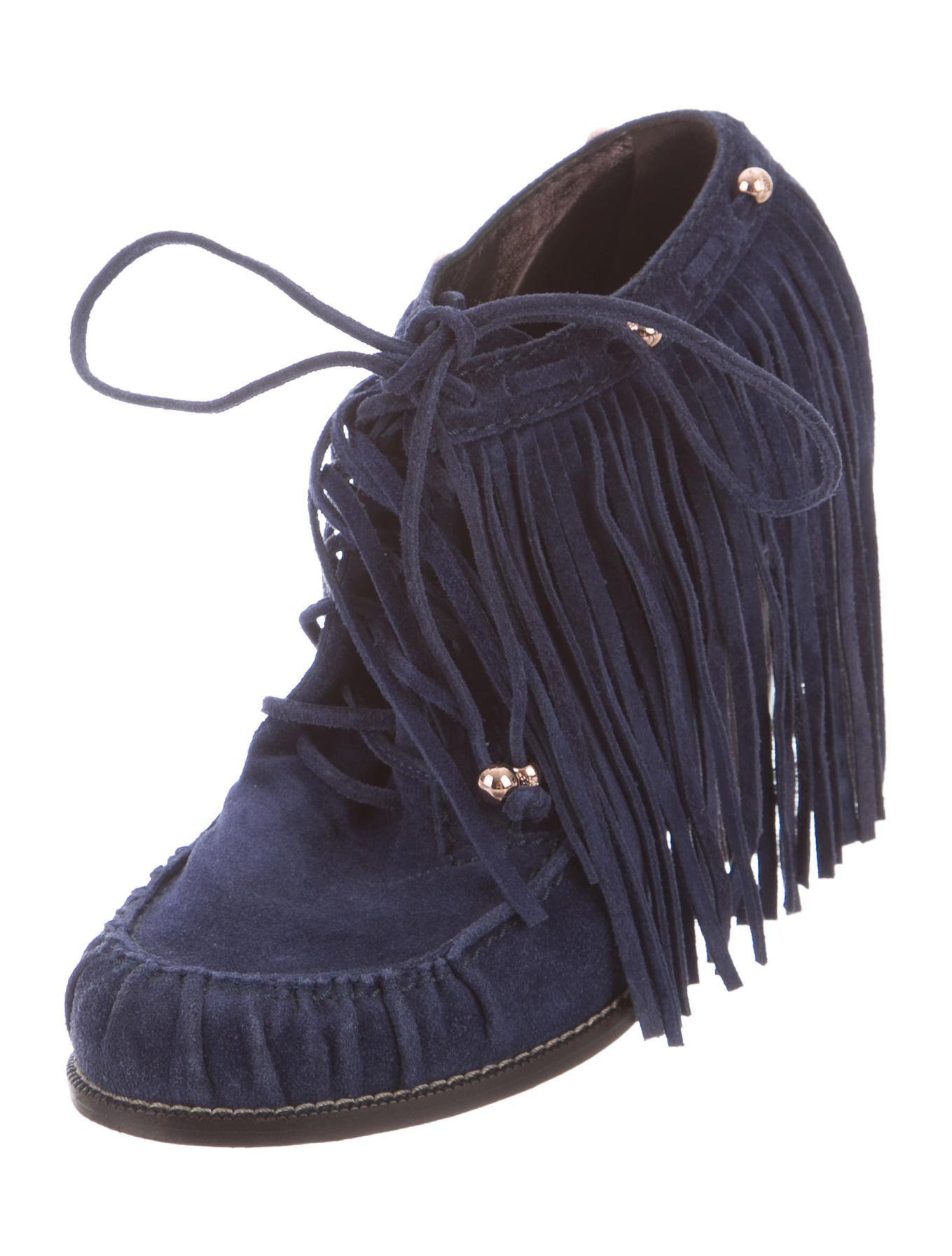 Womens Chestnut Brown Faux Suede Moccasin Fringe Ankle Boots Booties NEW. $ Buy It Now. Free Shipping. Free Returns. 19+ Sold. SPONSORED. Women Ankle Boots Lady Fringe Tassel Flats Matte Suede Lace Up Moccasins Shoes. New Sam Edelman Suede Black Women's Fringe Heels Ankle Boots Booties Size