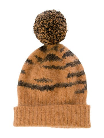 Mulberry Angora Patterned Beanie None